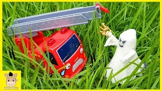 Tayo the little bus meets ghost! Car toys Popular full episode story pretend play | MariAndKids Toys