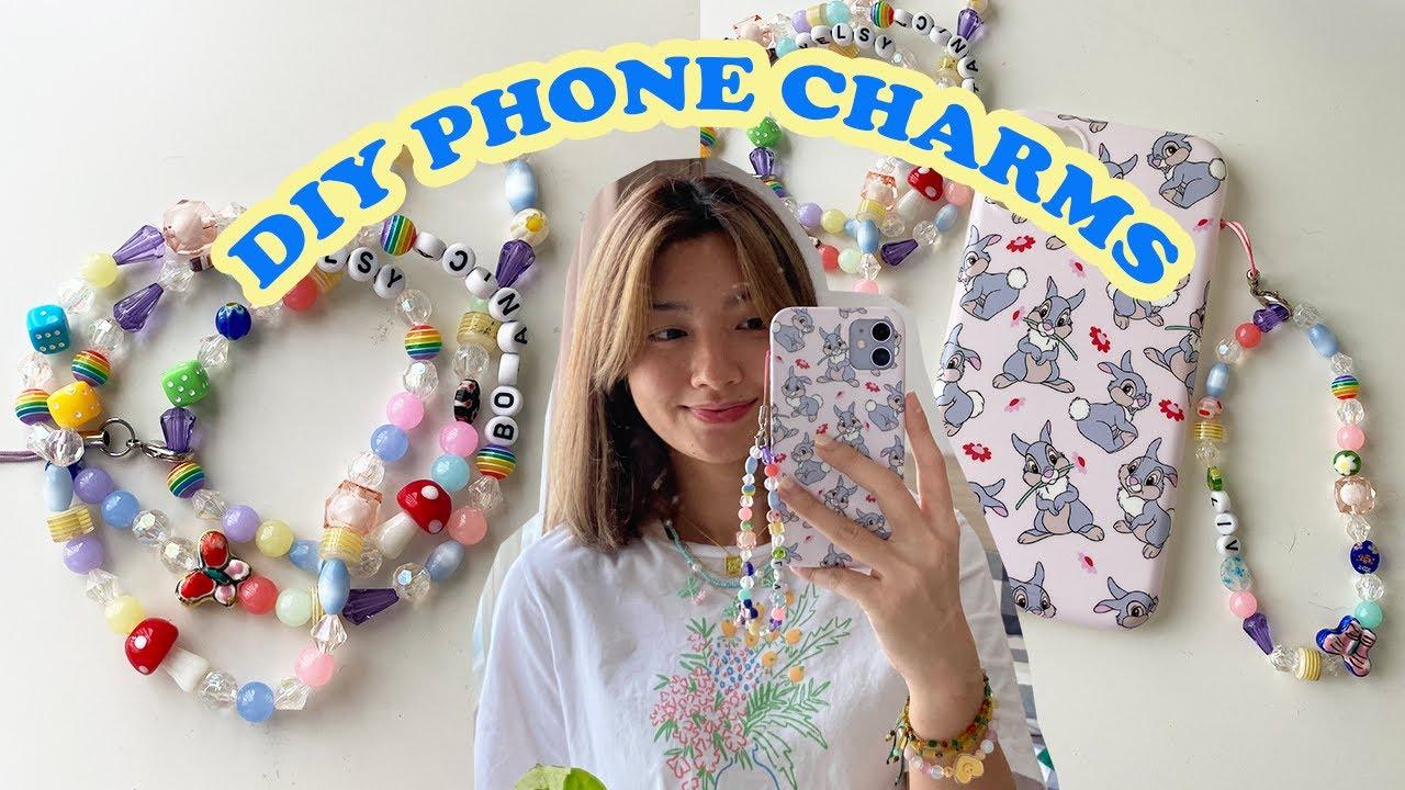 DIY Phone Charms // ทำสายคล้องโทรศัพท์จากลูกปัด *cute \u0026 trendy*