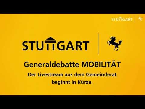 Generaldebatte Mobilität des Stuttgarter Gemeinderats