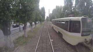 10-я Дачная-ЦКР таймлапс из заднего окна трамвая