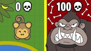 Эволюция ОБЕЗЬЯНЫ УБИЙЦЫ! MooMoo.io Обновление io Игры