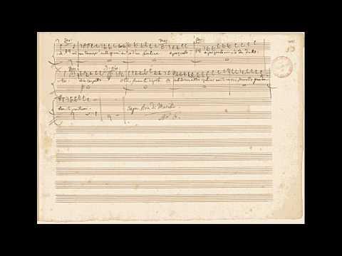 """Mozart: """"Don Giovanni"""" - 'Giovinette Che Fate All'amore' (autograph Manuscript)"""