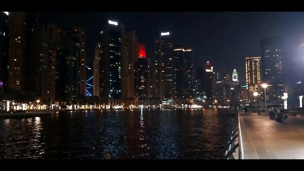 Dubai Marina Walk Night View Youtube