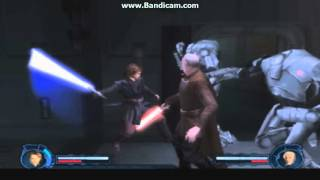 star wars episode 3 obi wan and anakin vs dooku PS2