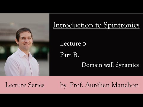L5PB Introduction to Spintronics: Domain Wall Dynamics