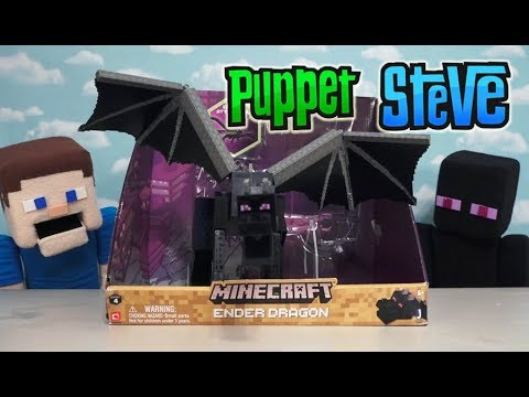 Minecraft Ender Dragon Action Figure Series 4 Toy Playset Unboxing Jazwares Puppet Steve