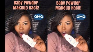 """BEAUTY HACKS WITH BABY POWDER! IT""""S MAKEUP MONDAY !!"""