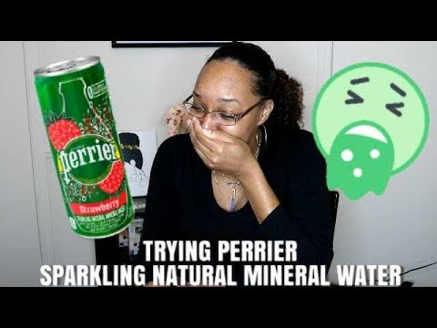 Tasting Perrier Sparkling Natural Mineral Water
