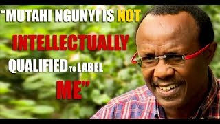 David Ndii: Mutahi Ngunyi is not intellectually qualified to label me
