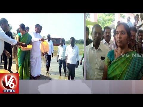 Padma Devender Reddy Inaugurates Paddy Procurement Center At Medak Market Yard   V6 News