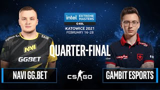 CS:GO - Gambit Esports vs. NAVI GG.BET [Train] Map 2 - IEM Katowice 2021 - Quarter-final