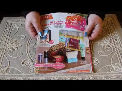 ASMR Page Turning ~ Ulta March 2016 Magazine ~ Soft Spoken