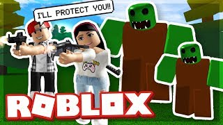 SAVING MY GIRLFRIEND FROM ZOMBIES! - ROBLOX ZOMBIE ATTACK