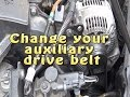 How to change an accessory / auxiliary alternator drive belt
