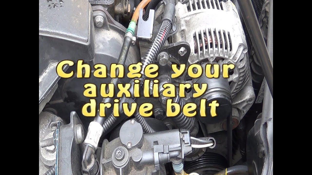 Jcb Alternator Wiring Diagram Carbohydrate Structure How To Change An Accessory / Auxiliary Drive Belt - Youtube