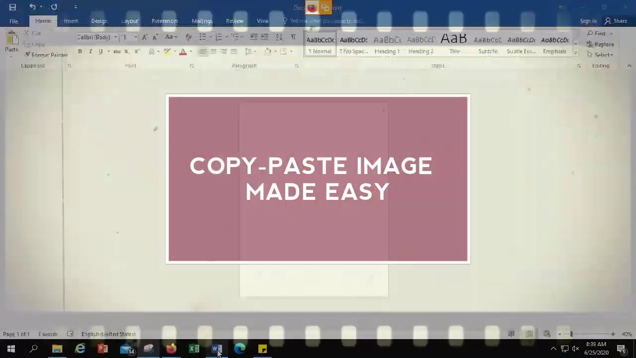 How To Copy - Paste Image on your Screen Easily