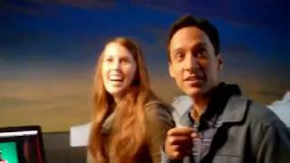 Abed's Uncontrollable Christmas Behind the Scenes, shot by Alison Brie
