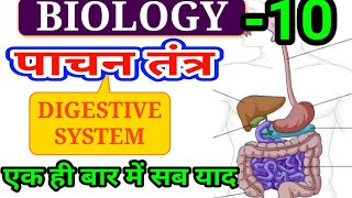 Gen Science (Biology -10) Digestive System| पाचन तंत्र| railway science,group d science|#ankitbhati
