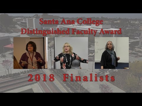 2018 SAC Distinguished Faculty Award Finalists