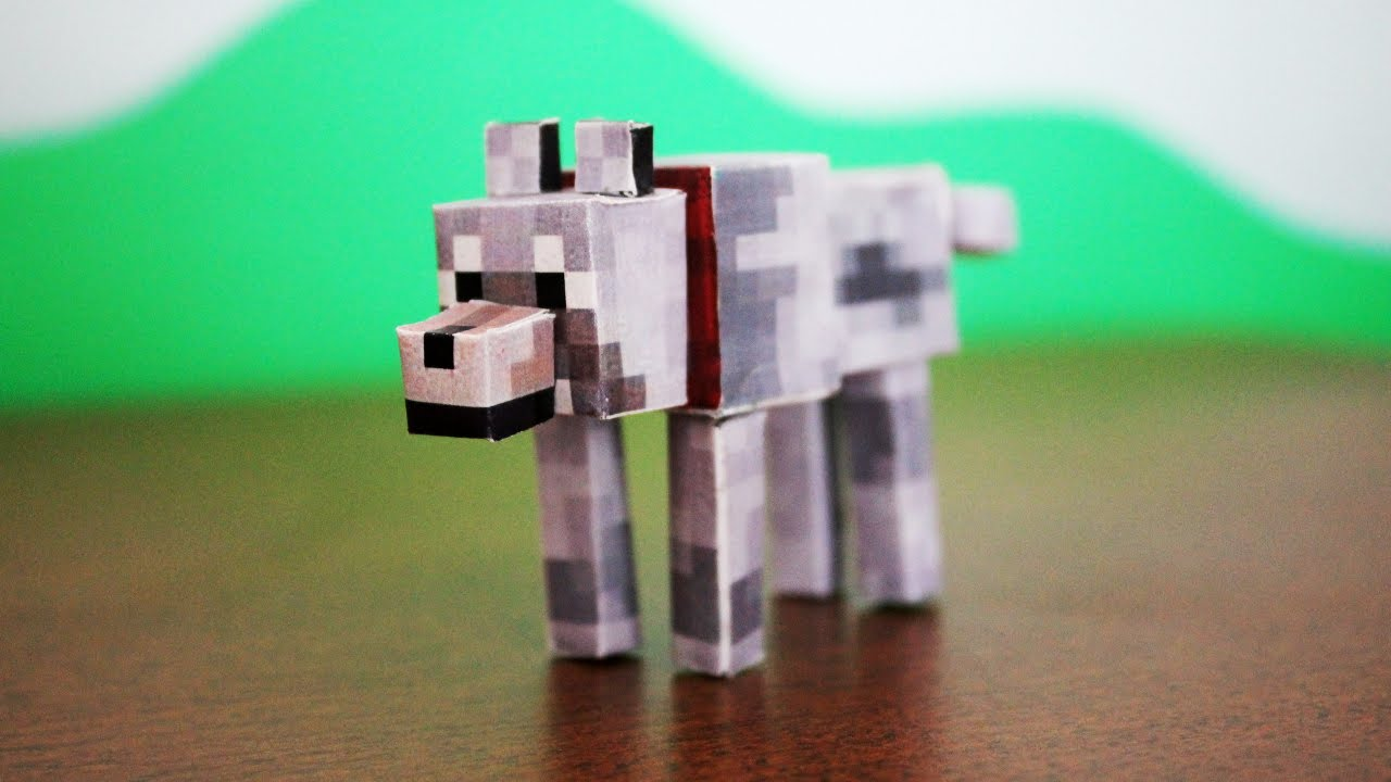 How To Make A Minecraft Paper Wolf Youtube