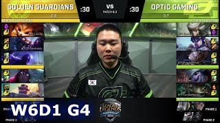 Golden Guardians vs OpTic Gaming | Week 6 Day 1 of S8 NA LCS Spring 2018 | GGS vs OPT W6D1 G4