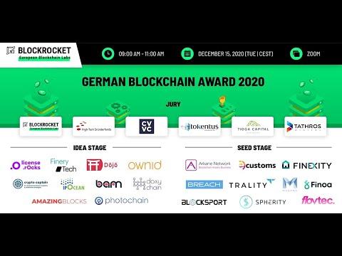 BLOCKROCKET's German Blockchain Award 2020