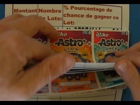 Grattage d'un carnet complet à 150€ de tickets de jeu ASTRO FDJ/ILLIKO