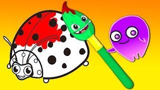 Apprenez les couleurs avec Groovy le Martien - Dessins animés éducatif