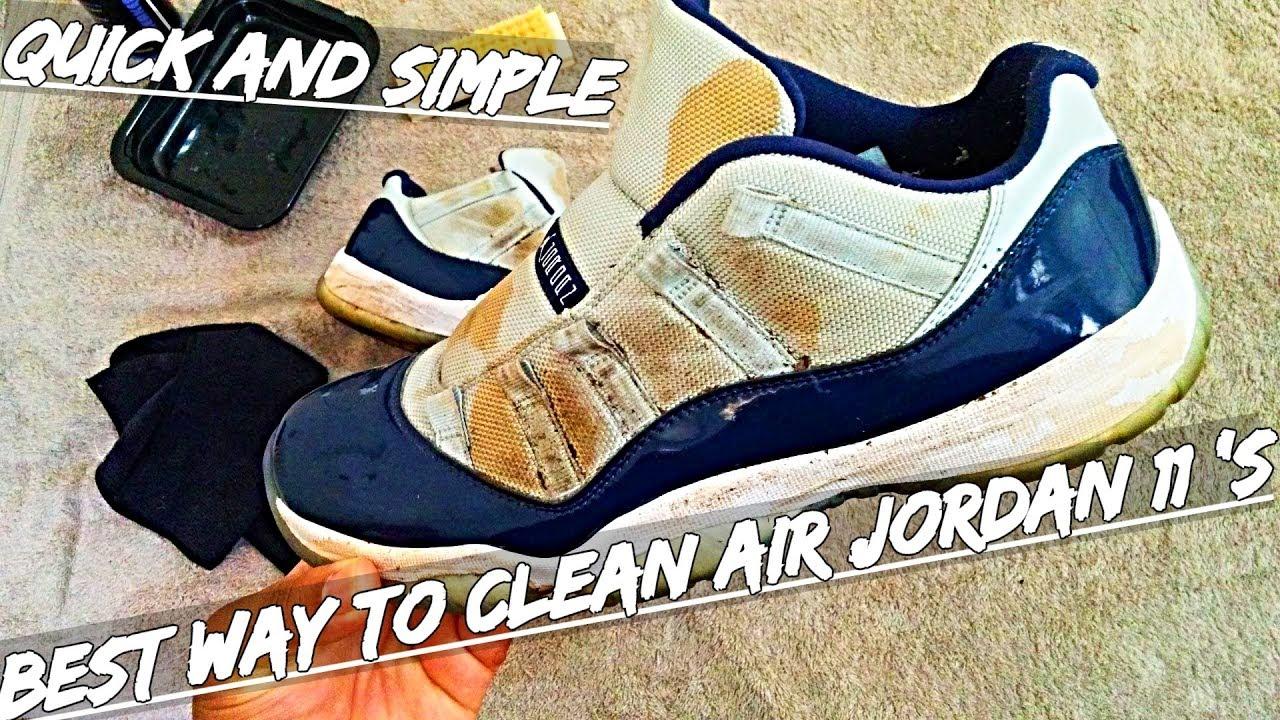 BEST WAY TO CLEAN AIR JORDAN 11 ! - YouTube