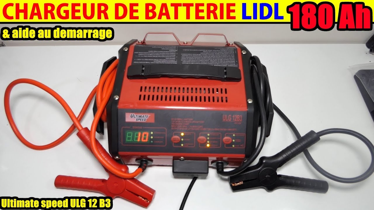 chargeur de batterie lidl ultimate speed ulg 12 voiture moto battery charger jump start function. Black Bedroom Furniture Sets. Home Design Ideas