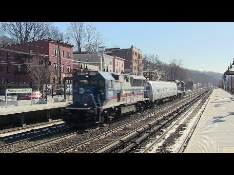 MNR/FRA Inspection Train w/ DOTX 216 on the Hudson Line