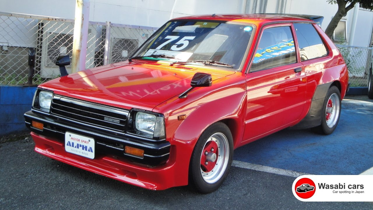 In A Car Yard A 1983 Toyota Starlet Dx Kp61 Trd N2 Widebody Youtube