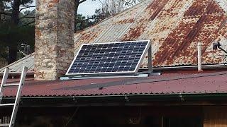 Basic solar system for off grid LED lighting.