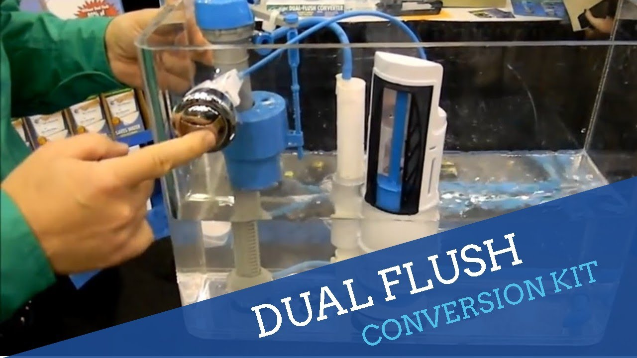 Dual Flush Toilet Converter Youtube