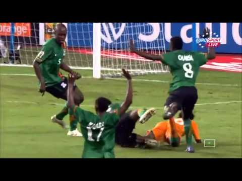 Didier Drogba Penalty Miss! Zambia vs Ivory Coast Afcon 2012 Final
