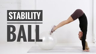 How To: Use a STABILITY BALL in your Workout
