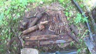 Фронтовые дороги. Немецкий блиндаж. Search for relics of the WW2. German dugout