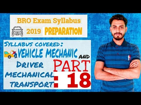 BRO Vehicle Mechanic Previous Year Questions And Ans