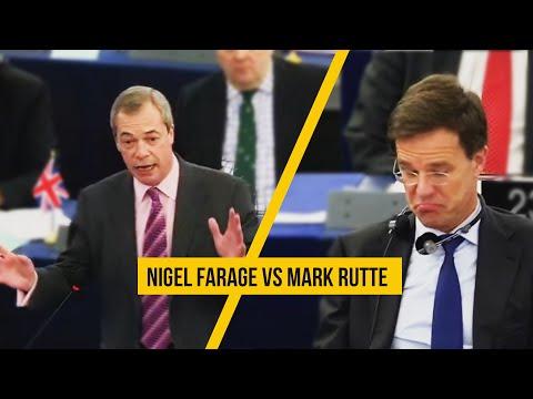 Nigel Farage vs. Mark Rutte over het EU-voorzitterschap (ondertiteld)