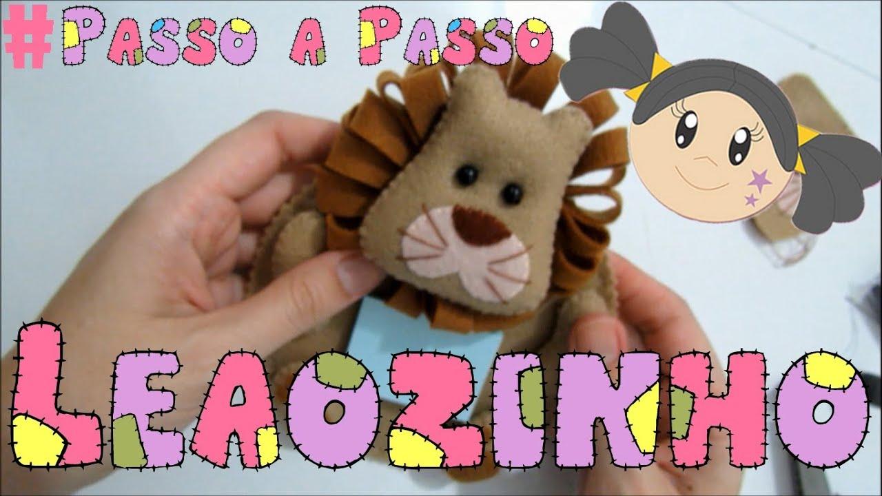 Artesanato Sustentável ~ Porta Recados de Le u00e3ozinho De Feltro Passo a Passo com Priscila Cunha YouTube
