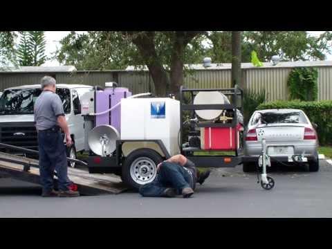 Hydro Tek Wastewater Filtration Trailer Sale $12,495.00 3500 PSI @ 5 GPM hot water pressure washer.