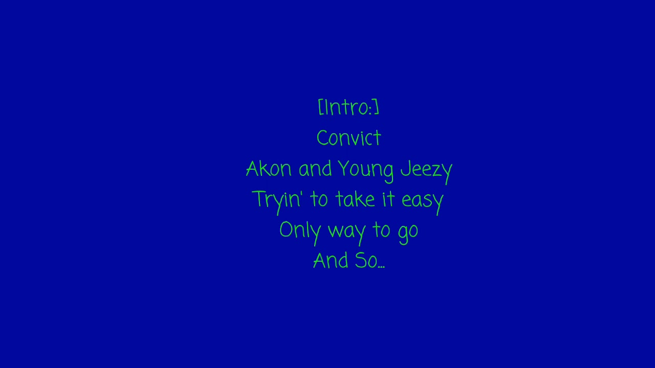 Young Jeezy (Feat. Akon) - Soul Survivor (Clean Version + Lyrics)