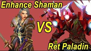 Enhance Shaman vs Retribution Paladin WoW Legion 1v1 Wargames