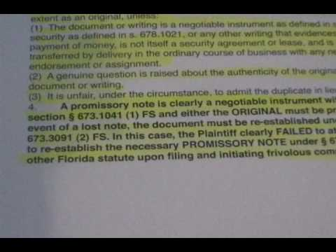 "Bank Foreclosure Fraud ""What Does A Mortgage Note Look Like"