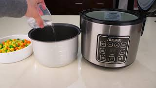 Aroma Housewares ARC 914SBD 2 8 Cups Cooked Digital Cool Touch Rice Grain Cooker and Food Steamer St