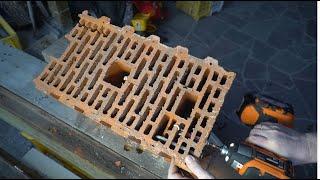 Как крепить тяжести в стену из керамических блоков Porotherm
