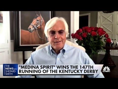 Medina Spirit trainer Bob Baffert on his horse winning the 147th Kentucky Derby