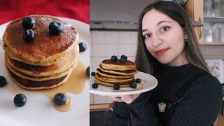 Εύκολα Pancakes Με Μπανάνα & Blueberries 🥞 | Maryland