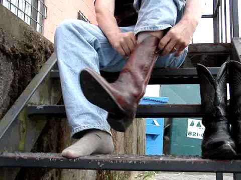 bootvideo 133 - Changing From Black Boulet Cowboy Boots... - YouTube