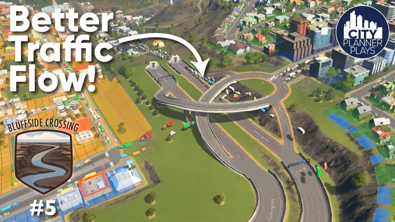 Download Improving Traffic Flow - Bluffside Crossing Ep. 5. (Cities: Skylines Modded Build)